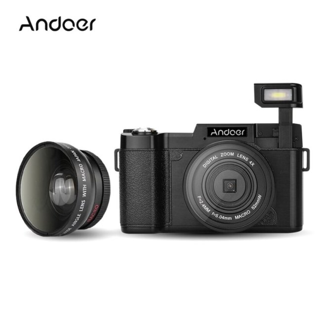 Kamera Point Shoot Cdr2 1080 P 15Fps Penuh HD 24Mp Digital Camera3.0  X9D Bisa Diputar LCD Layar shake 4X Zoom Digital Dibangun Di-Inretractable Senter Video DV Perekam Kamera Kamera Perekam W/Lebar-Sudut Lensa UV penyaring-Internasional