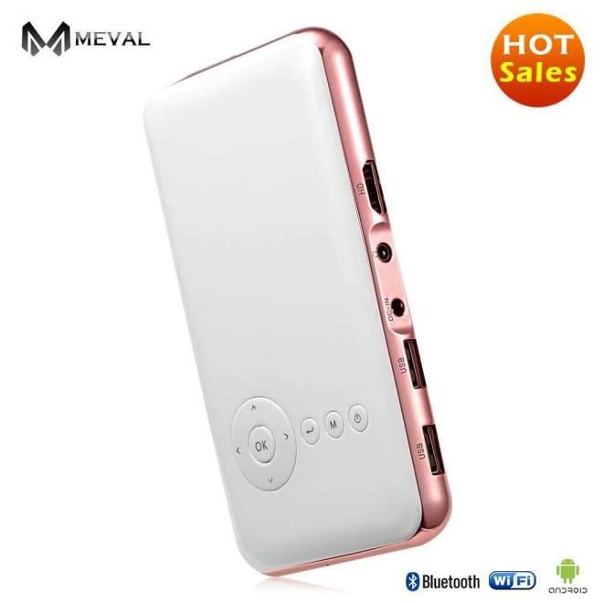 Meval S6s Mini Proyektor HDMI untuk Seluler Harga Murah Rumah Cinema 1080 P Penuh HD Pintar Projector HDMI 1080 P 1G/32G Rom-Internasional