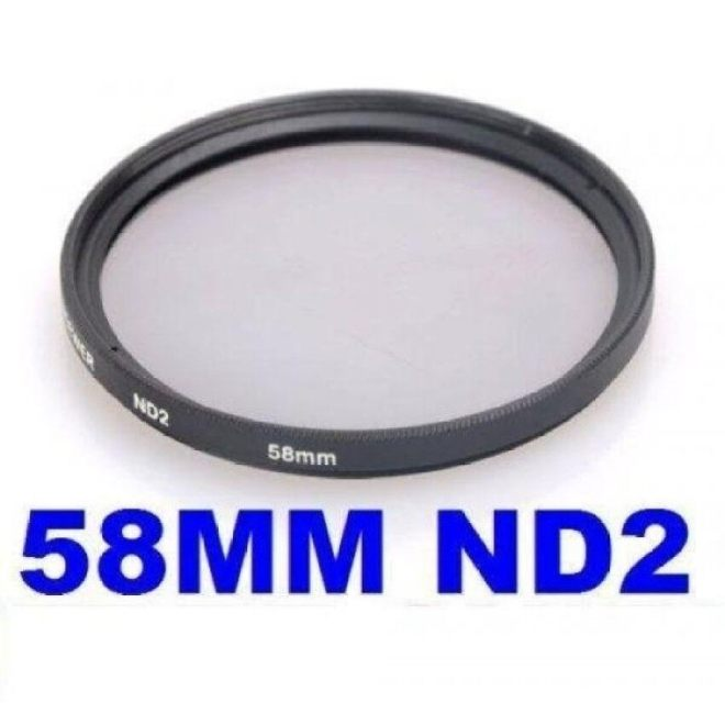 Neewer® 58Mm Nd2 Neutral Density Filter For Canon Eos 700D 650D 600D 1100D 550D 500D 450D 400D 350D 100D/ Rebel T5i T4i T3i T3 T2i T1i Xsi Xti Xt Sl1 - intl