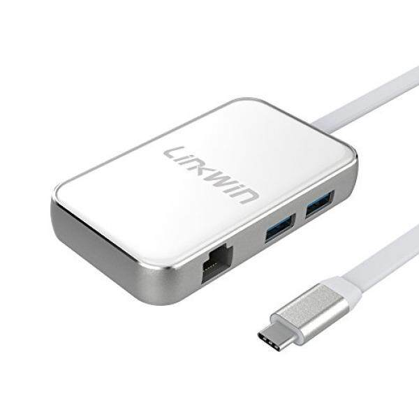 USB C Hub, Type C Adapter,Thunderbolt 3 to 4K HDMI Hub,60W Charging Docking Station with Enthernet Port, USB 3.0,VGA Port, for New MacBook Pro,Chromebook,Galaxy S8, Projector (White) - intl