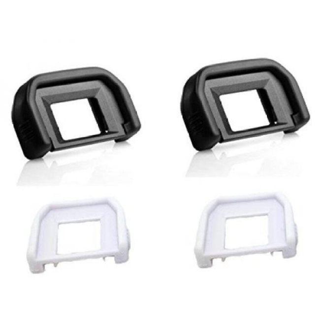 Zlmc Karet Eyecup Lensa Mata EF untuk Canon 650D 600D 550D 500D 450D 1100D 1000D 400D, rebel XT Xti XSI T1i T2 T2i T3 T3i T4i T5i Sl1-Internasional