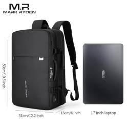 Mark Ryden Tas Ransel Laptop Pria Tas Ransel Laptop Kain Oxford Anti Air Cocok untuk Laptop 17.3 Inci dengan Port Pengisian Daya USB Banyak Lapisan Ruang Bepergian untuk Pria