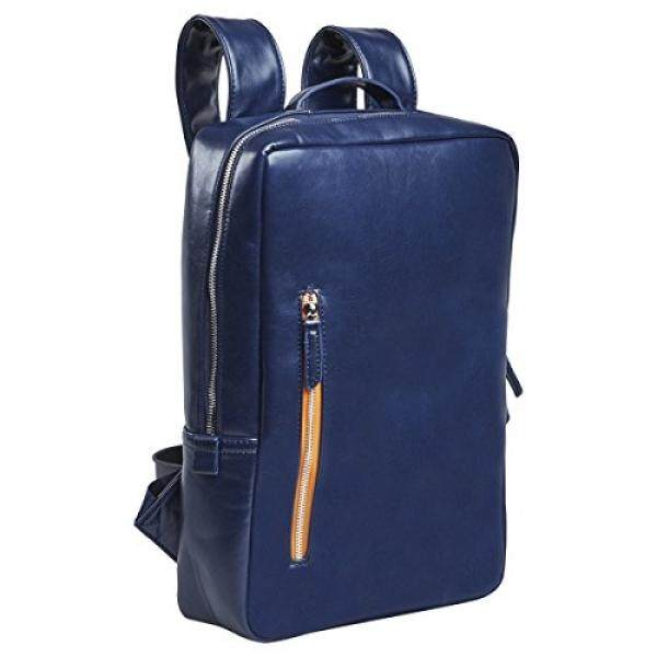 Setton Brothers Laptop Backpack Briefcase MacBook Bag-Case - 13-14 inch, Slim Business Professional Bag Notebook/ Apple MacBook Pro Retina/ iPad Pro 12.9/ Dell xps 13/ Tablet sleeve - Blue - intl