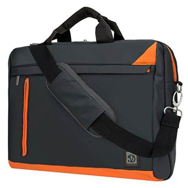 Trendy Grey Orange Mesenger Bag for Dell 15.6 15.4 14 Laptop Inspiron / Latitude / Precision / Alienware / Vostro / XPS - intl