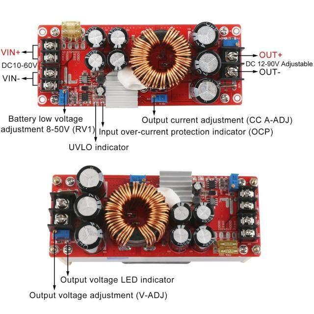 เว็บซื้อของออนไลน์ HT 1500W 30A DC DC Boost Converter Step up Power Supply  โมดูล 1060V 1290V sendust