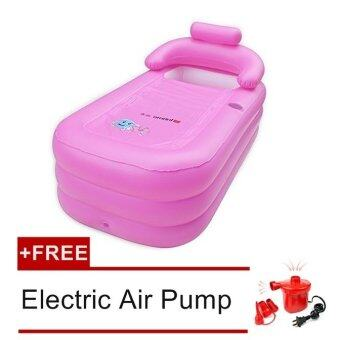 Adult Leisurely Spa Inflatable Bath Tub Pink Free