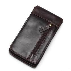 2018 Kulit Asli Vintage Pinggang Paket Travel Pria Tas Sabuk Loop Hip Tas Pinggang Tas Ponsel kantong