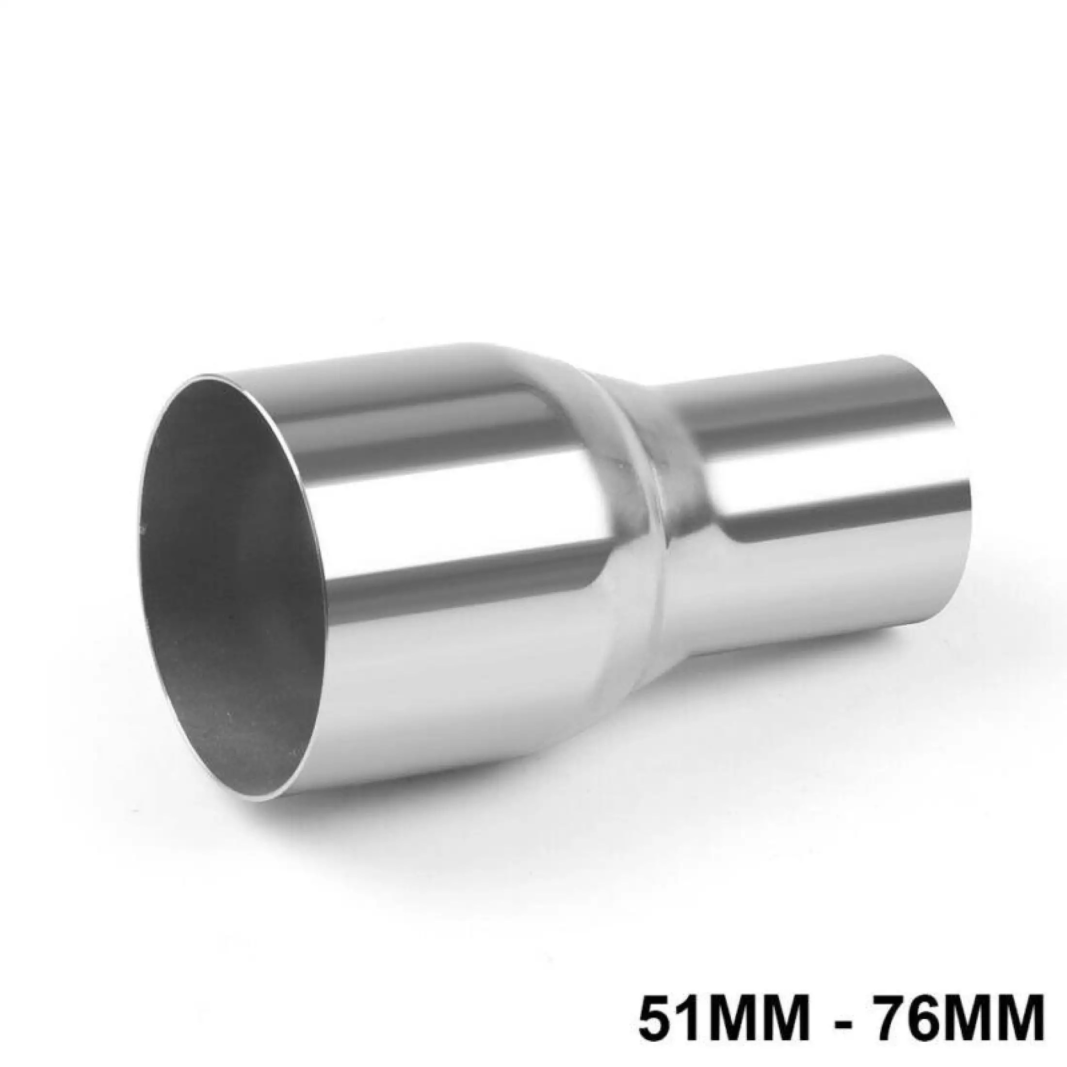 2 to 3 od car exhaust pipe connector tube adapter reducer stainless steel exhaust pipe connector length 143mm