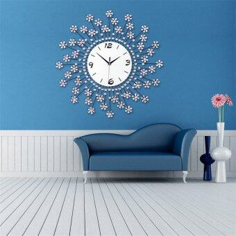 Wall Clock Numbers Kids Room Home Decor Modern Interior Orange