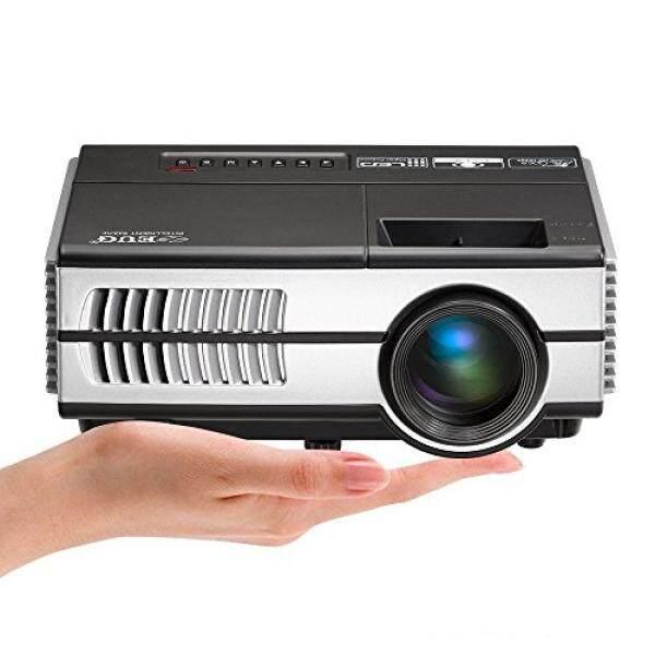 Mini LED Dalam Luar Ruangan Bioskop Projector dengan HDMI, 1500 Lumens Portabel LCD Video Projector untuk Ios iPhone Mac Ipad Ponsel Pintar Android Samsung Galaksi DVD Pemutar Permainan Konsol PS4 xbox Satu-Internasional