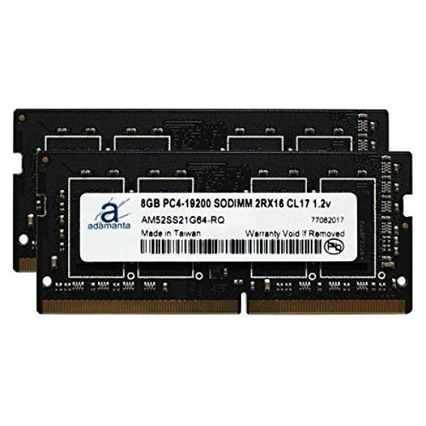 Adamanta 16GB (2x8GB) Laptop Memory Upgrade for Dell Alienware, Inspiron, Precision & XPS DDR4 2400Mhz PC4-19200 SODIMM 2Rx16 CL17 1.2v RAM DRAM - intl