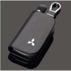 1 Buah Kulit Pria & Wanita Penutup Kunci Mobil Pemegang Gantungan Kunci Casing Kunci Kulit Dompet Kunci untuk Mitsubishi Asx Bantalan Mobil Aksesoris Hiasan Mobil