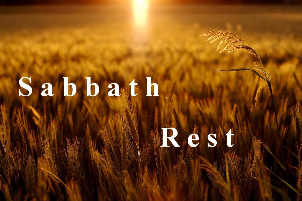 A Saturday reminder of Sabbath