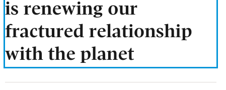 The real cure for COVID is renewing our fractured relationship with the planet