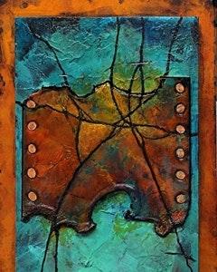 mixed_media_abstract_art_painting_hidden_treasure_ii_carol_nelson_fine_art