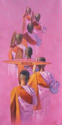 Aung-Kyaw-Htet-Nuns-in-the-Pink-2009-35x67-Oil-1-512x1024