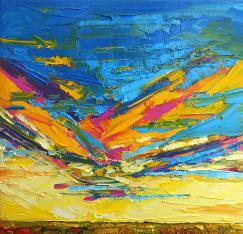 kaleidoscope-sky-at-sunset-modern-impressionistic-palette-knife-painting-patricia-awapara
