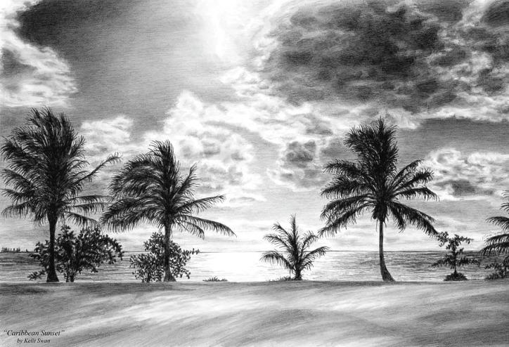 black-and-white-caribbean-sunset-kelli-swan