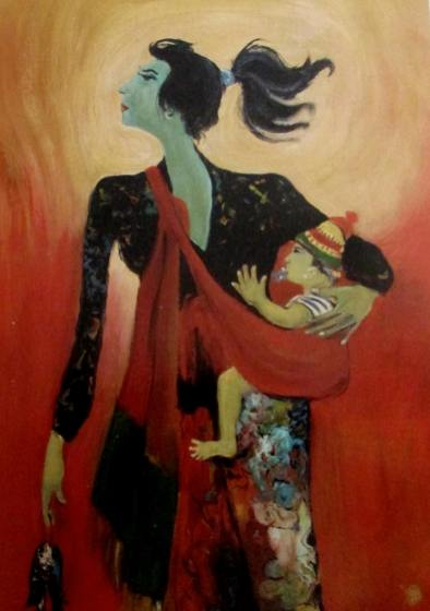 hendra-gunawan-mother-and-child-1982