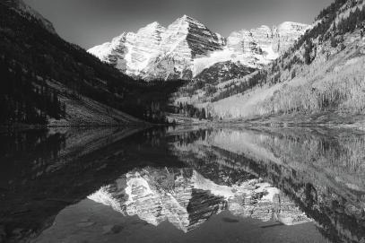 maroon-bells-reflections-black-and-white-harold-rau