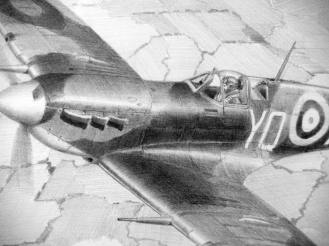 Spitfire_5_Drawing_Gray_Close