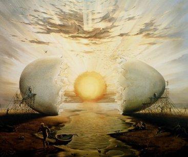 Vladimir_Kush_Sunrise_By_the_Ocean_1996