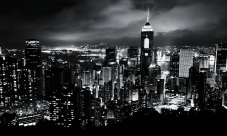 Black-and-White-City-at-Night-V