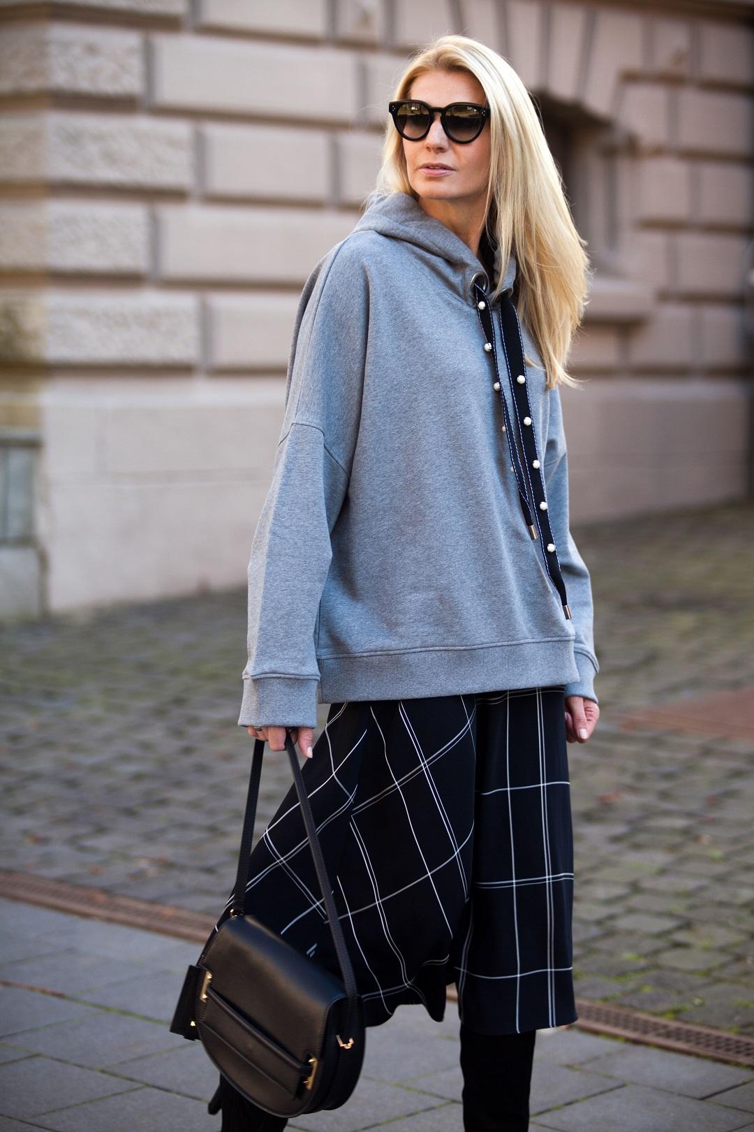 L.K. Bennett London skirt and Dorothee Schumacher Hoodie