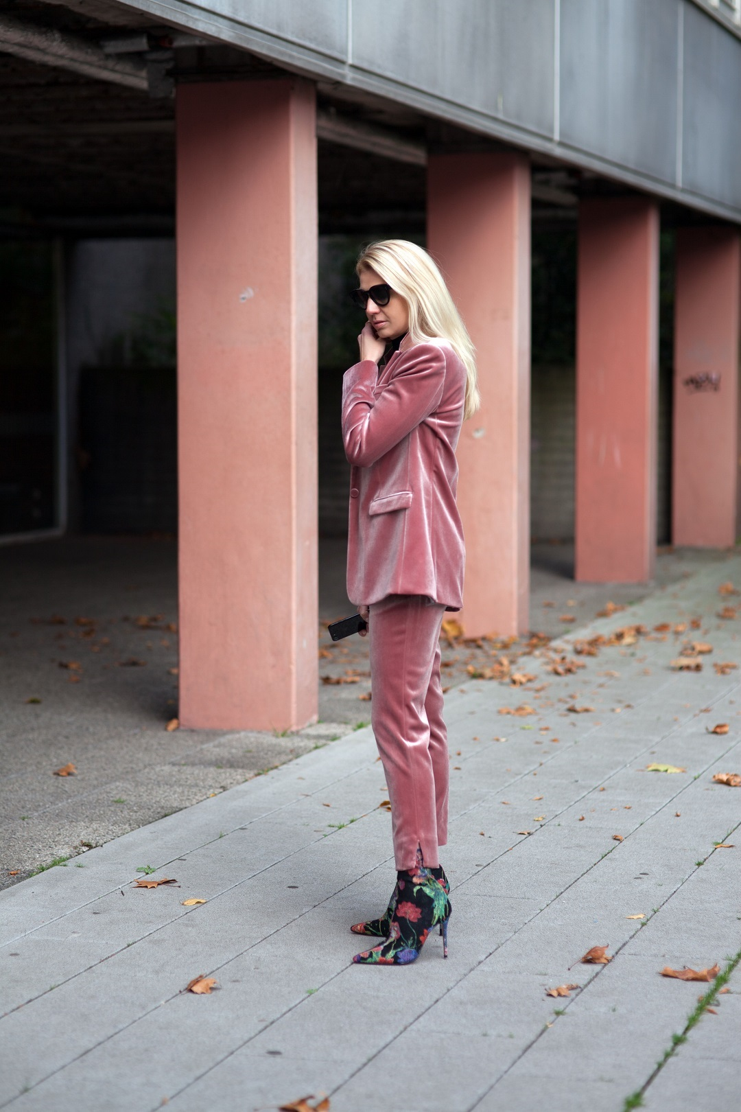 Weihnachtsoutfit in Rosa