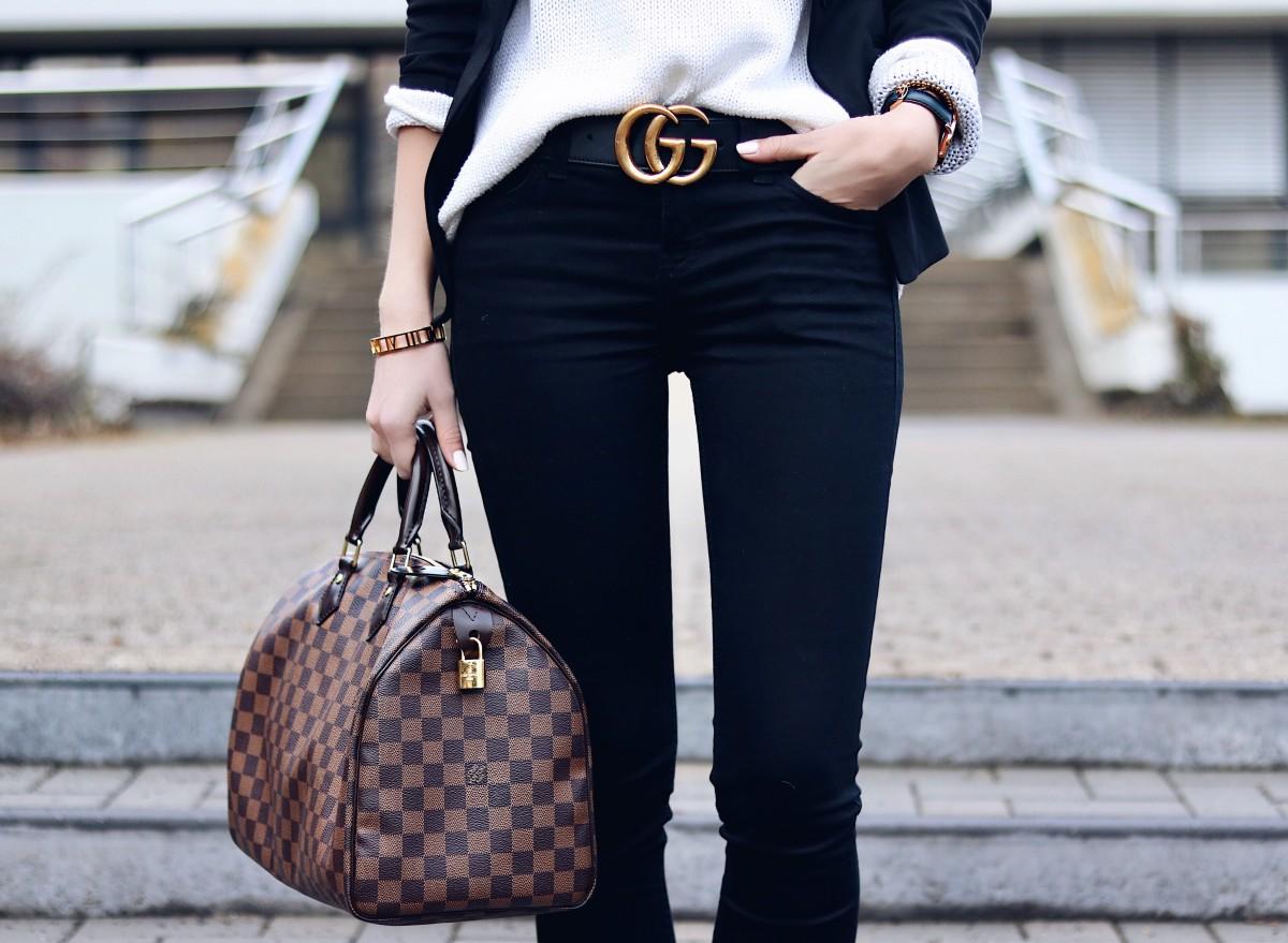 Gucci Gürtel, Louis Vuitton Speedy