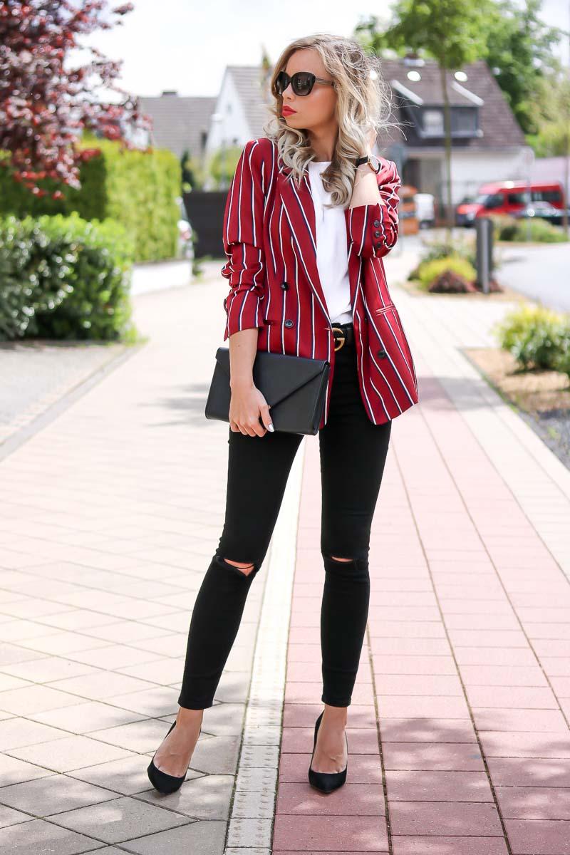 Effortlessly Chic, blazer, Gucci belt, Accessories, elegant, casual chic