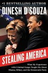 book jacket with weird photo of Obama and Hillary