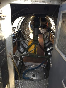 photo inside the B-17 Flying Fortress