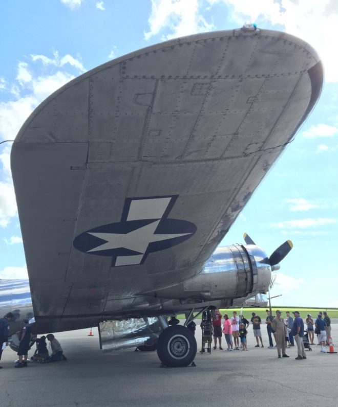 Big wing of B-17 bomber