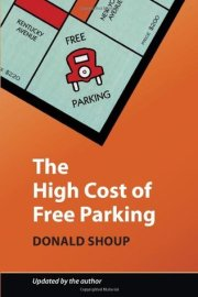 book jacket featuring graphic of Monopoly game with the free parking corner