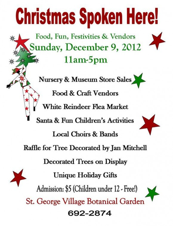 St George Village Botanical Gardens Christmas Spoken Here