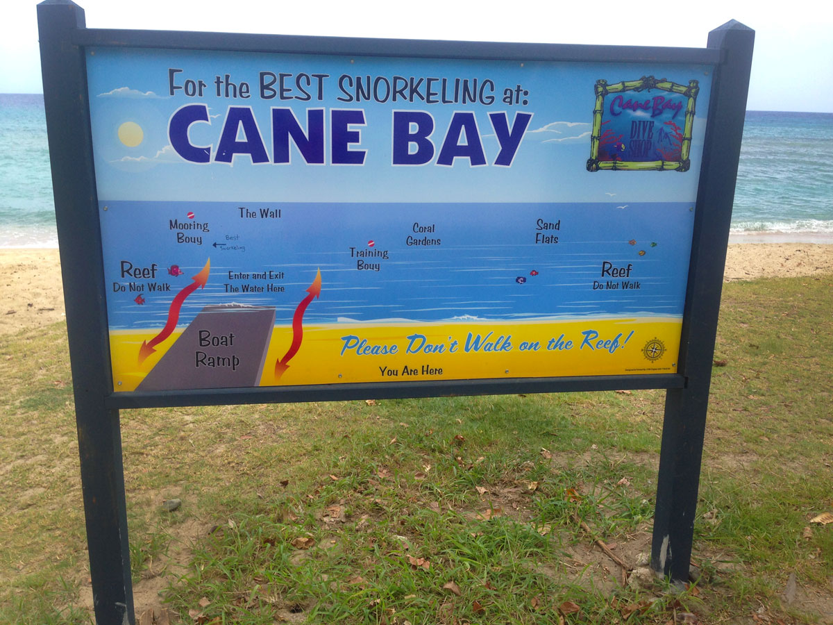 Cane Bay Beach Sign