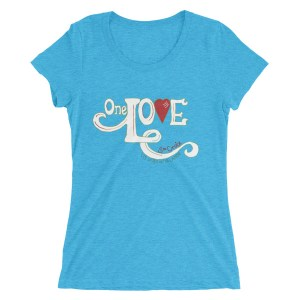 One Love Ladies' short sleeve t-shirt