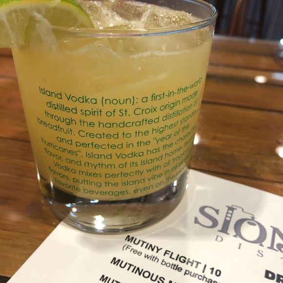 breadfruit vodka cocktail