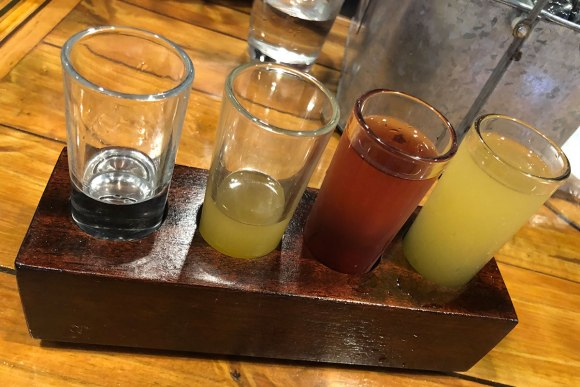 MUTINY Island breadfruit vodka flight