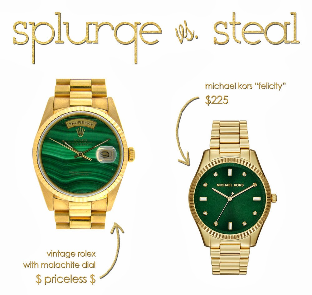 Splurge vs Steal Green Dial Watches