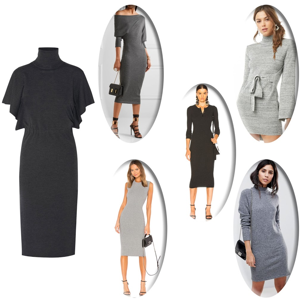 Gray Sweater Dresses