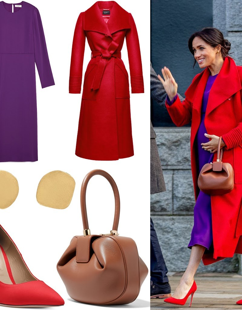 Steal Meghan's Look: Red and Purple Color Combo