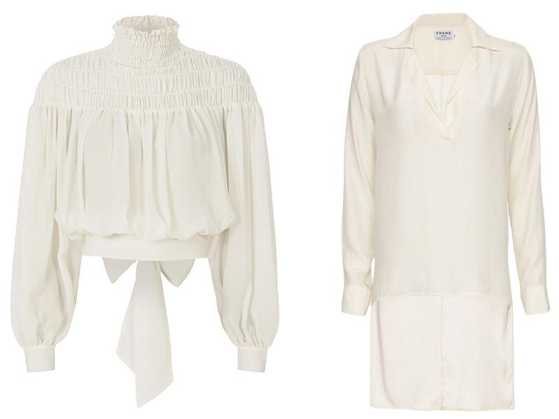 Frame white blouses