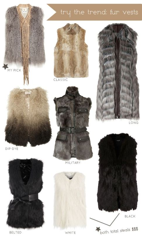 Try The Trend Fur Vests
