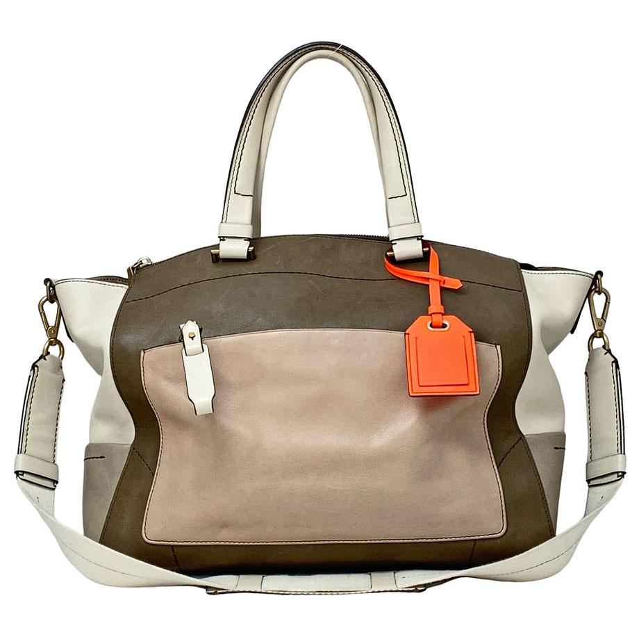 06-20-Reed-Krakoff-Beige-Brown-Leather-Uniform-Trapeze-Shoulder-Tote-Bag-Purse-Handbag-(1)