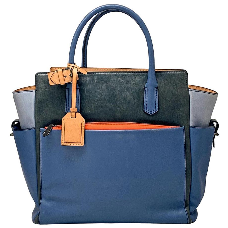 06-20-Reed-Krakoff-Storm-Blue-Color-block-Leather-Atlantique-Tote-Bag-Purse-Handbag-(1)