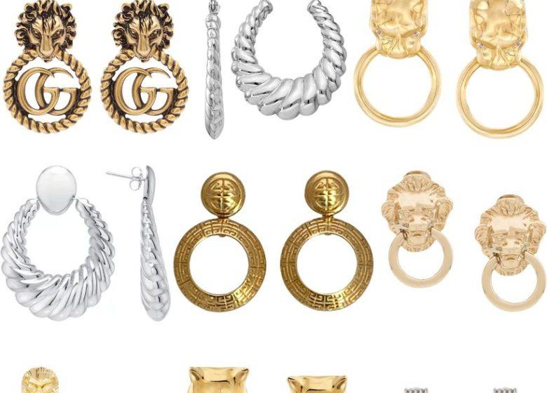 An 80s Jewelry Trend Makes A Comeback: Door Knocker Earrings