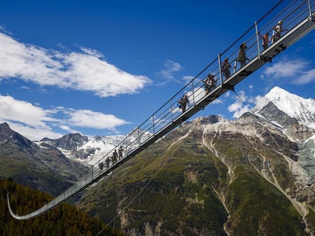 Самый длинный в мире подвесной пешеходный мост
