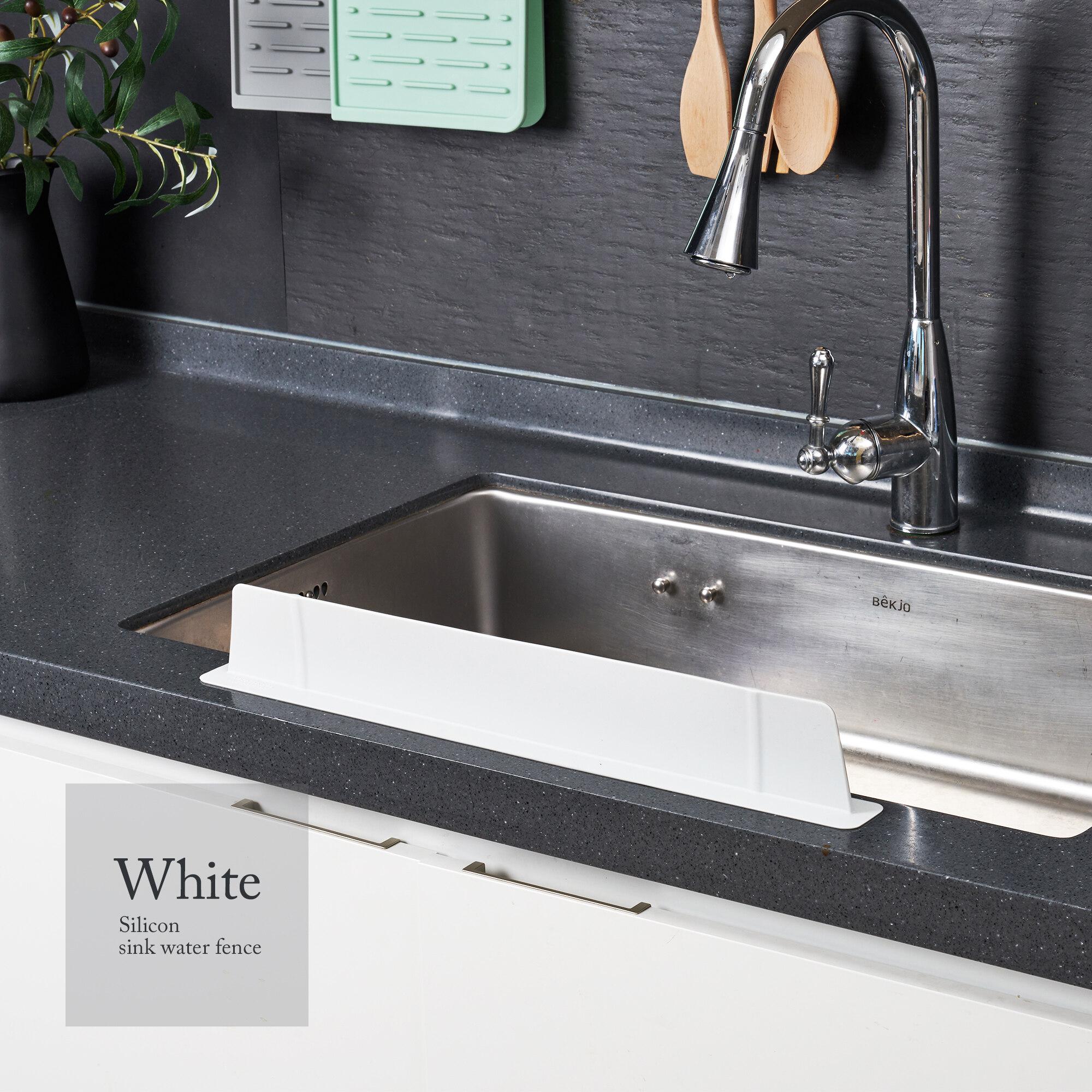 cimelax sink splash guard premium silicone water splash guard for kitchen sink bathroom and island sinks water stopper water barrier fda approved